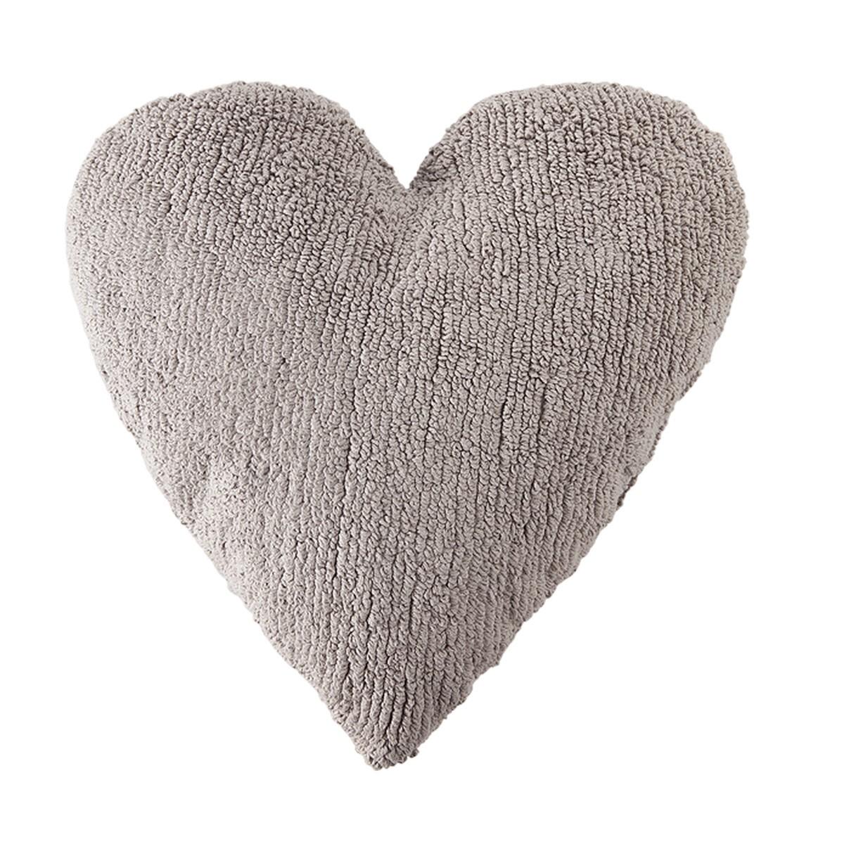 Διακοσμητικό Μαξιλάρι Lorena Canals Heart Light Grey