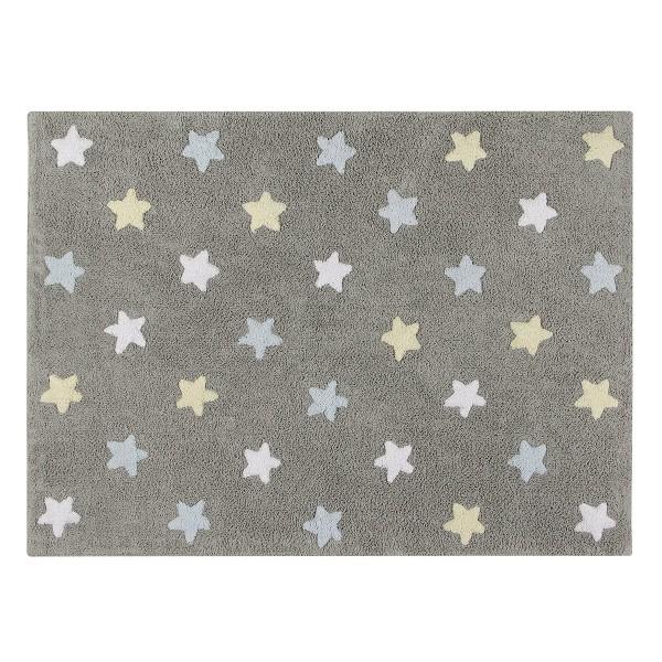 Πλενόμενο Χαλί (120x160) Lorena Canals Tricolor Stars Grey-Blue