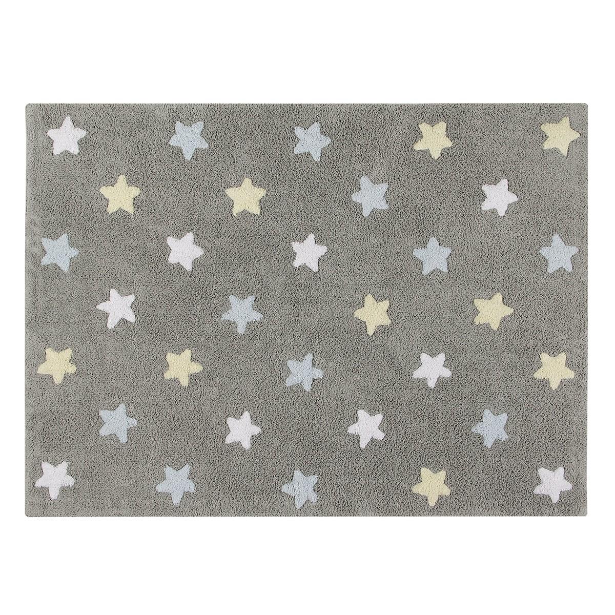 Πλενόμενο Χαλί (120×160) Lorena Canals Tricolor Stars Grey-Blue 64598