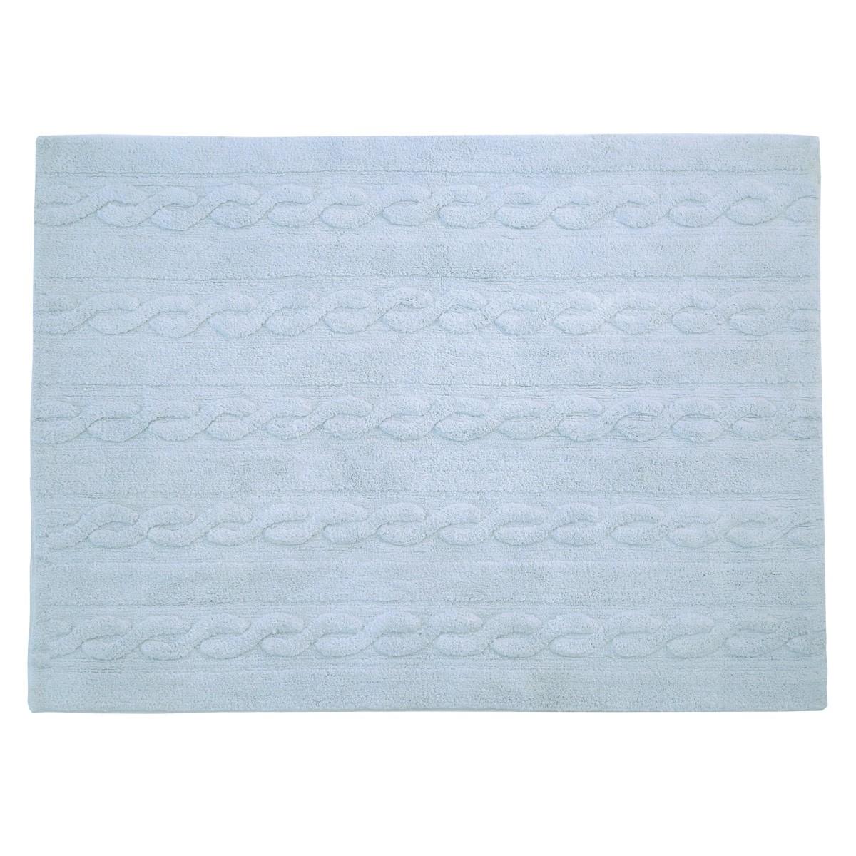 Πλενόμενο Χαλί (120x160) Lorena Canals Trenzas Soft Blue