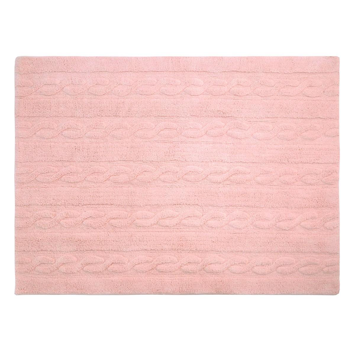 Πλενόμενο Χαλί (120x160) Lorena Canals Trenzas Soft Pink