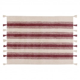 Πλενόμενο Χαλί (120x160) Lorena Canals Stripes Marsala