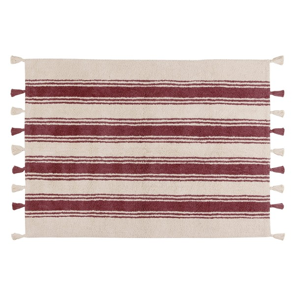 Πλενόμενο Χαλί (120x160) Lorena Canals Stripes Marsala