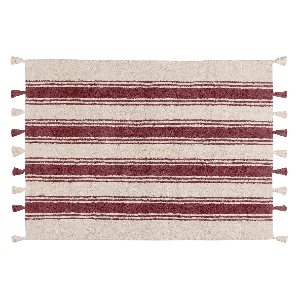 Πλενόμενο Χαλί (120×160) Lorena Canals Stripes Marsala