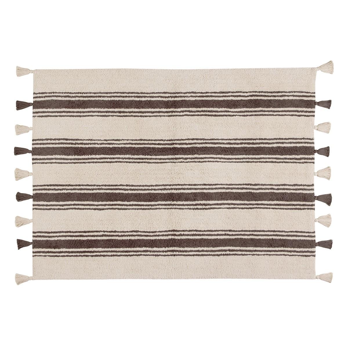 Πλενόμενο Χαλί (120×160) Lorena Canals Stripes Elephant Grey