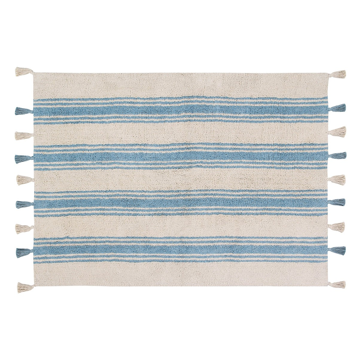 Πλενόμενο Χαλί (120x160) Lorena Canals Stripes Nile Blue