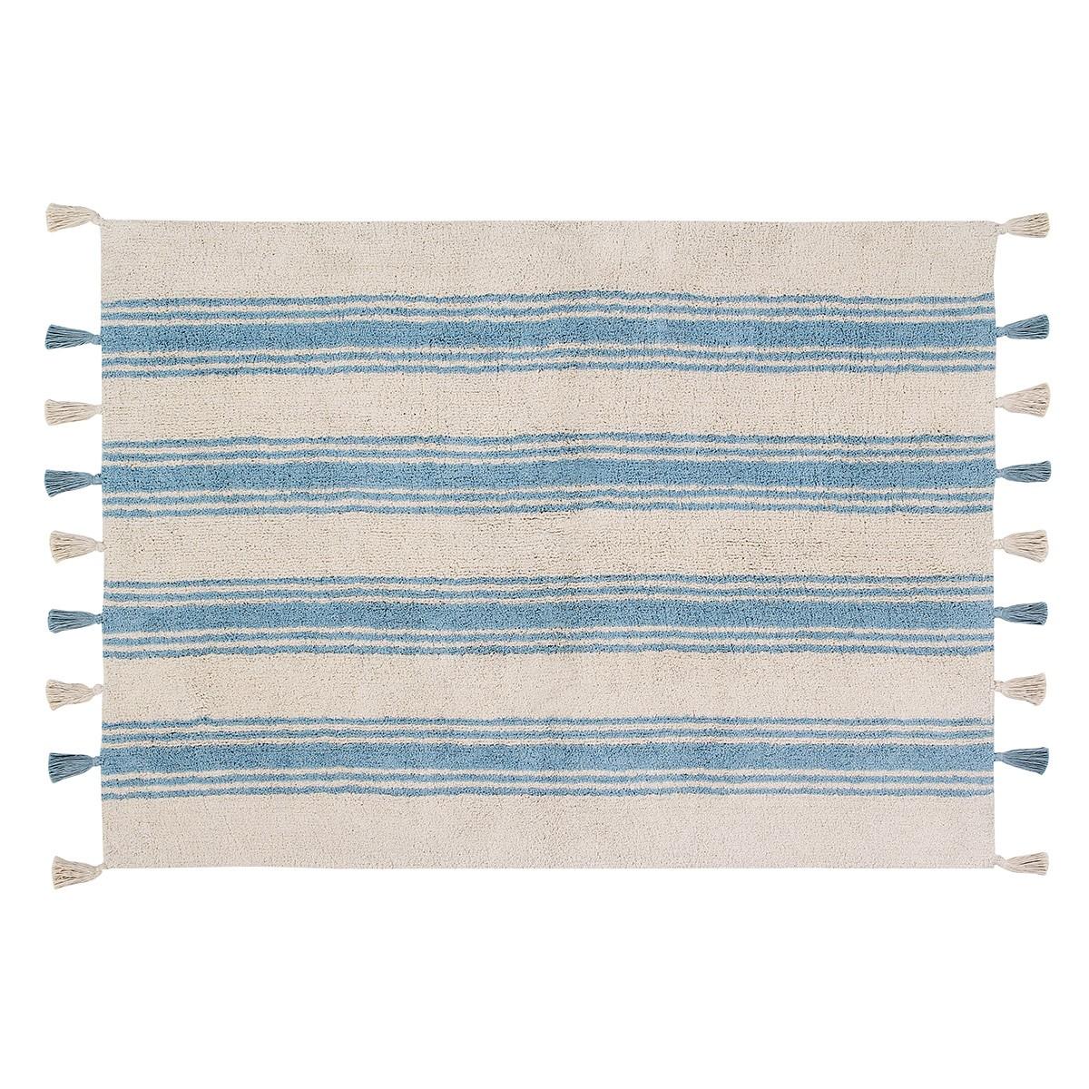 Πλενόμενο Χαλί (120x160) Lorena Canals Stripes Nile Blue