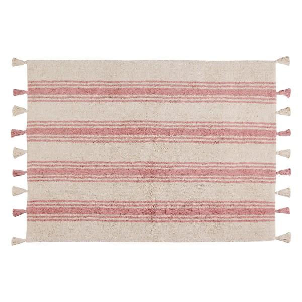 Πλενόμενο Χαλί (120x160) Lorena Canals Stripes Coral Pink