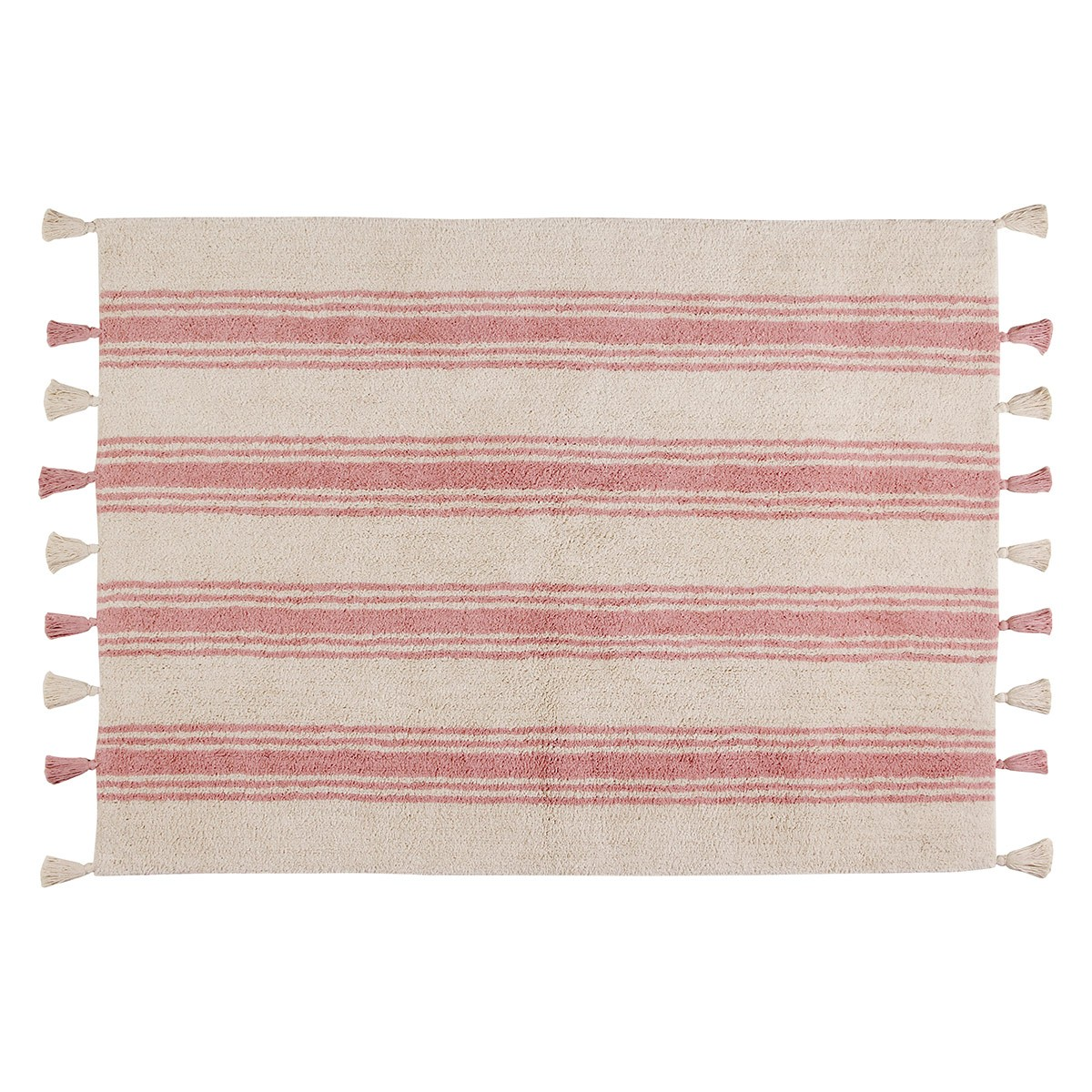 Πλενόμενο Χαλί (120×160) Lorena Canals Stripes Coral Pink