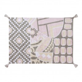 Πλενόμενο Χαλί (120x160) Lorena Canals Indian Bag Grey-Pink