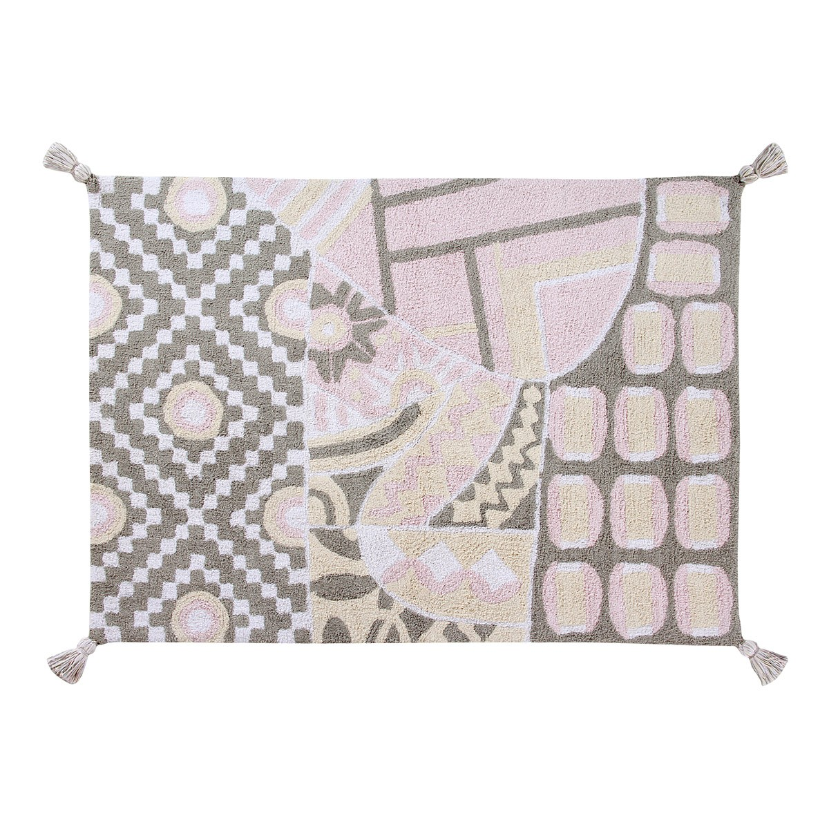 Πλενόμενο Χαλί (120×160) Lorena Canals Indian Bag Grey-Pink