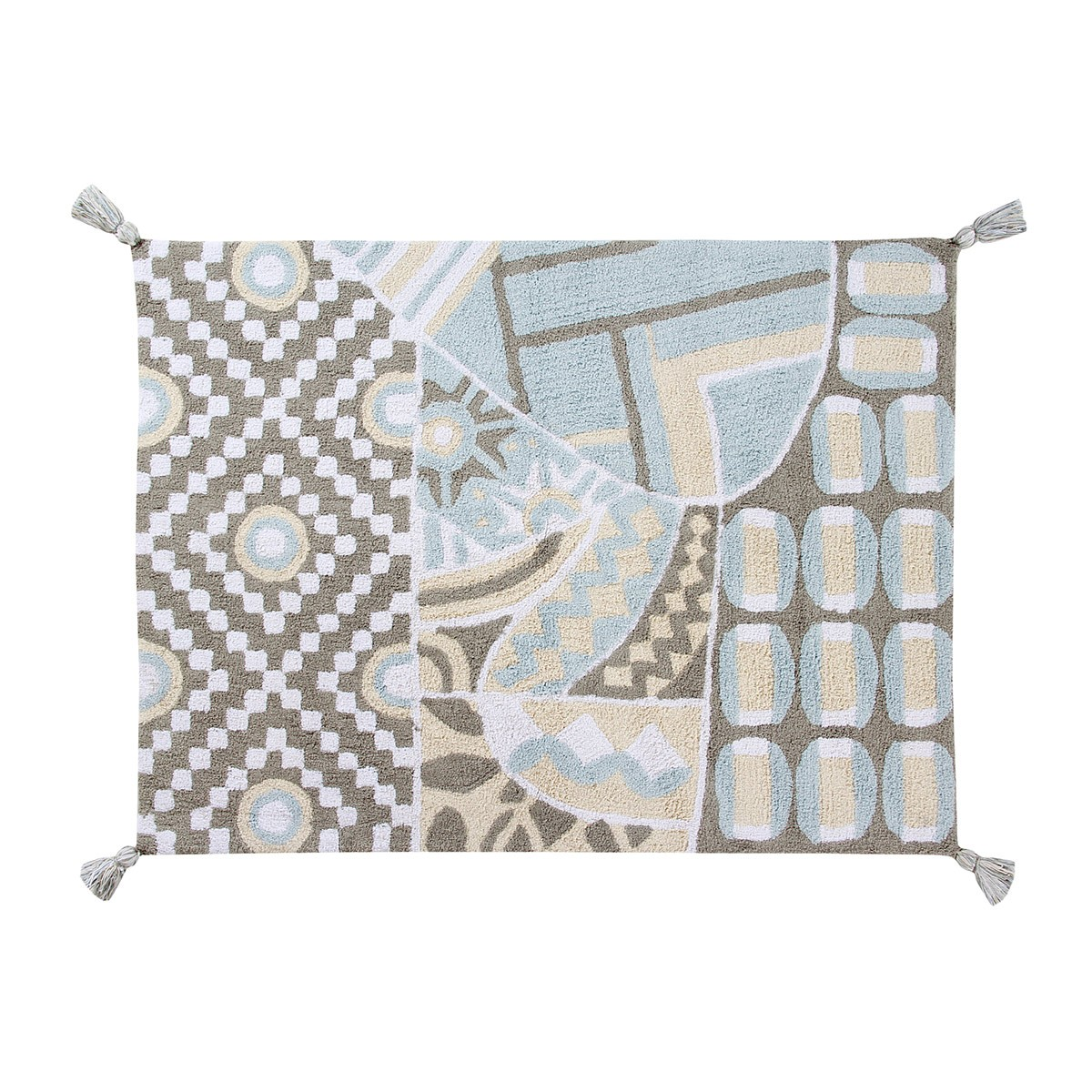 Πλενόμενο Χαλί (120x160) Lorena Canals Indian Bag Grey-Blue