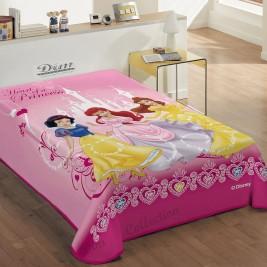 Κουβέρτα Βελουτέ Μονή Dim Collection Heart Of Princess
