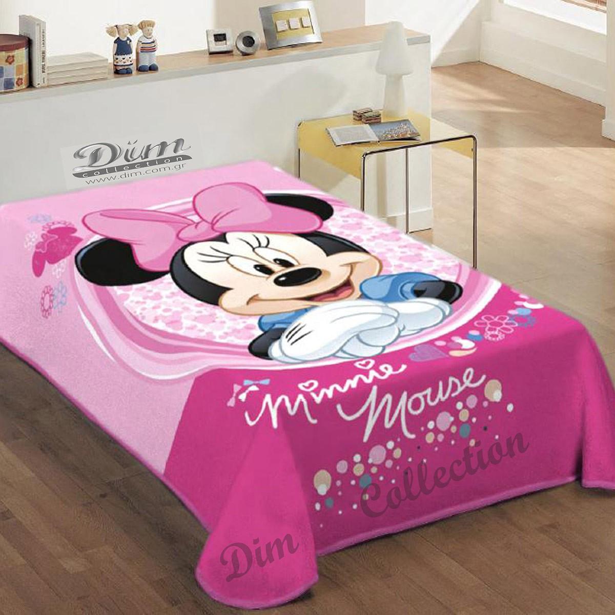 Κουβέρτα Βελουτέ Μονή Dim Collection Minnie Mouse