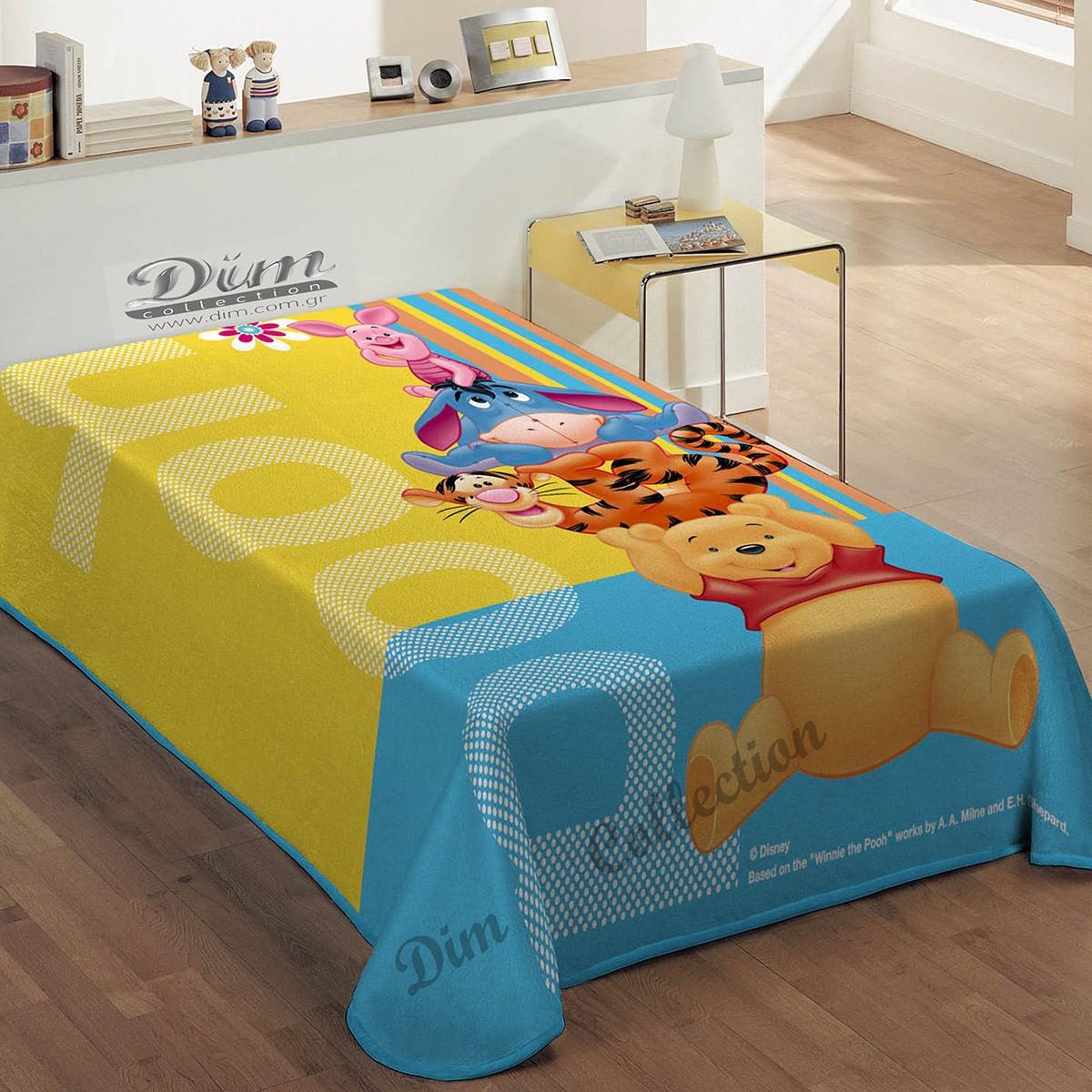 Κουβέρτα Βελουτέ Μονή Dim Collection Winnie Pooh