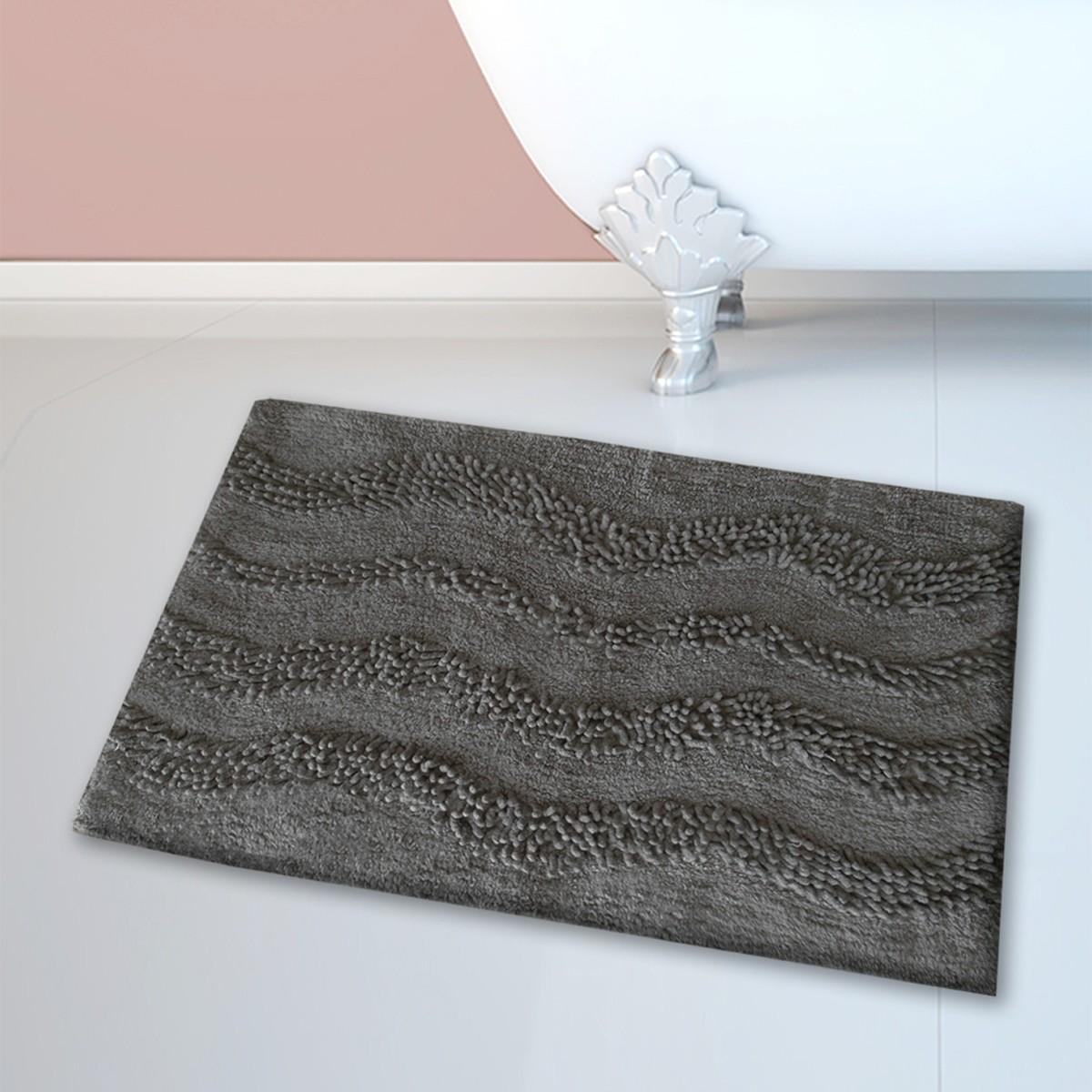 Πατάκι Μπάνιου (45x70) San Lorentzo BM-459 Waves Grey