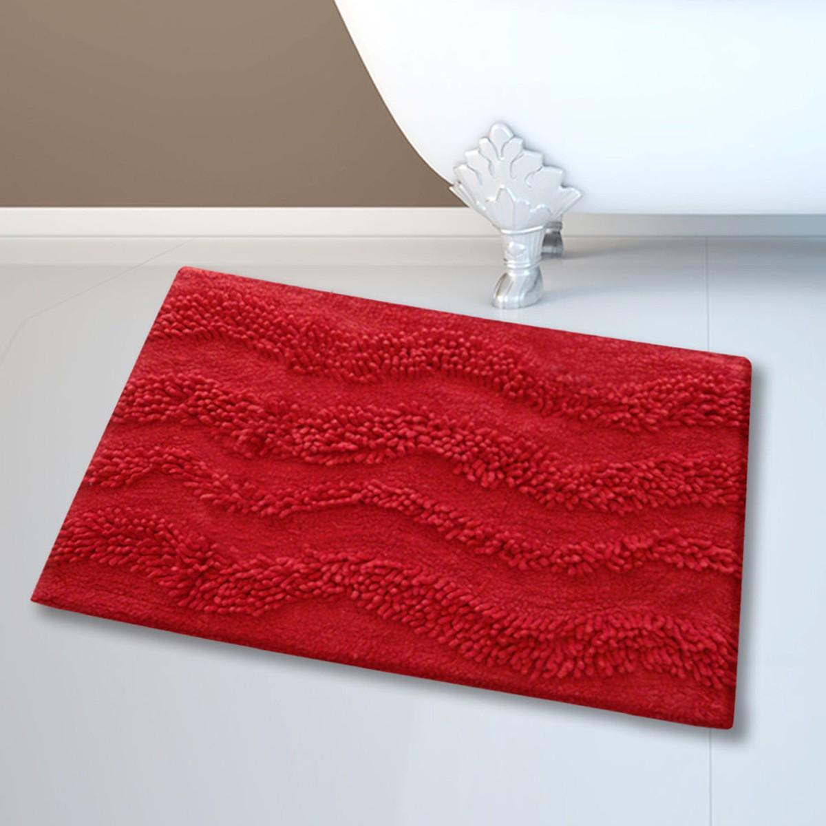 Πατάκι Μπάνιου (45x70) San Lorentzo BM-459 Waves Red