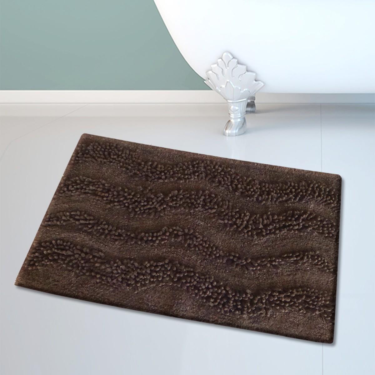 Πατάκι Μπάνιου (45×70) San Lorentzo BM-459 Waves Brown