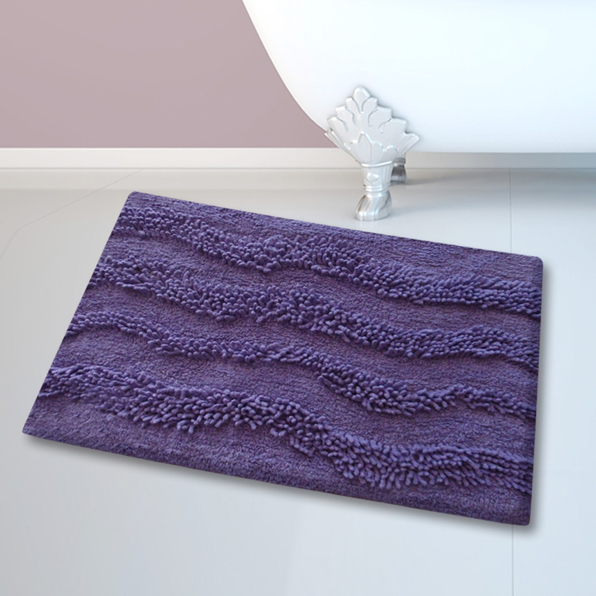 Πατάκι Μπάνιου (45×70) San Lorentzo BM-459 Waves Purple