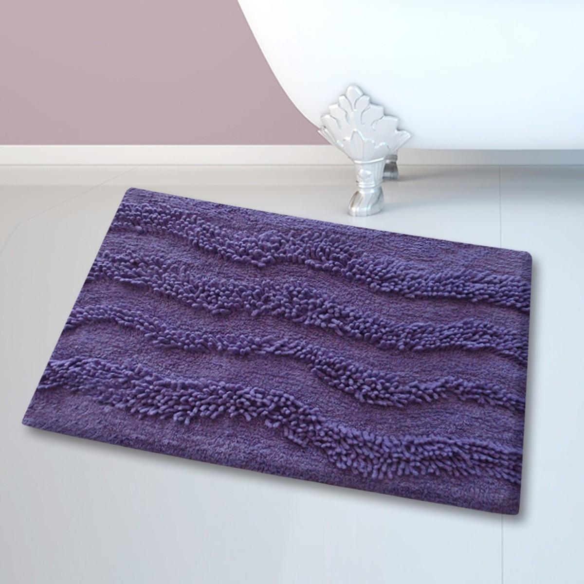 Πατάκι Μπάνιου (45x70) San Lorentzo BM-459 Waves Purple
