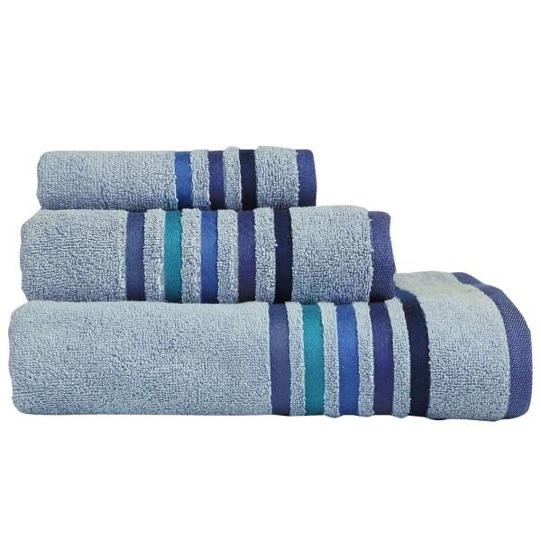 Πετσέτες Μπάνιου (Σετ 3τμχ) Nef-Nef Lines Blue