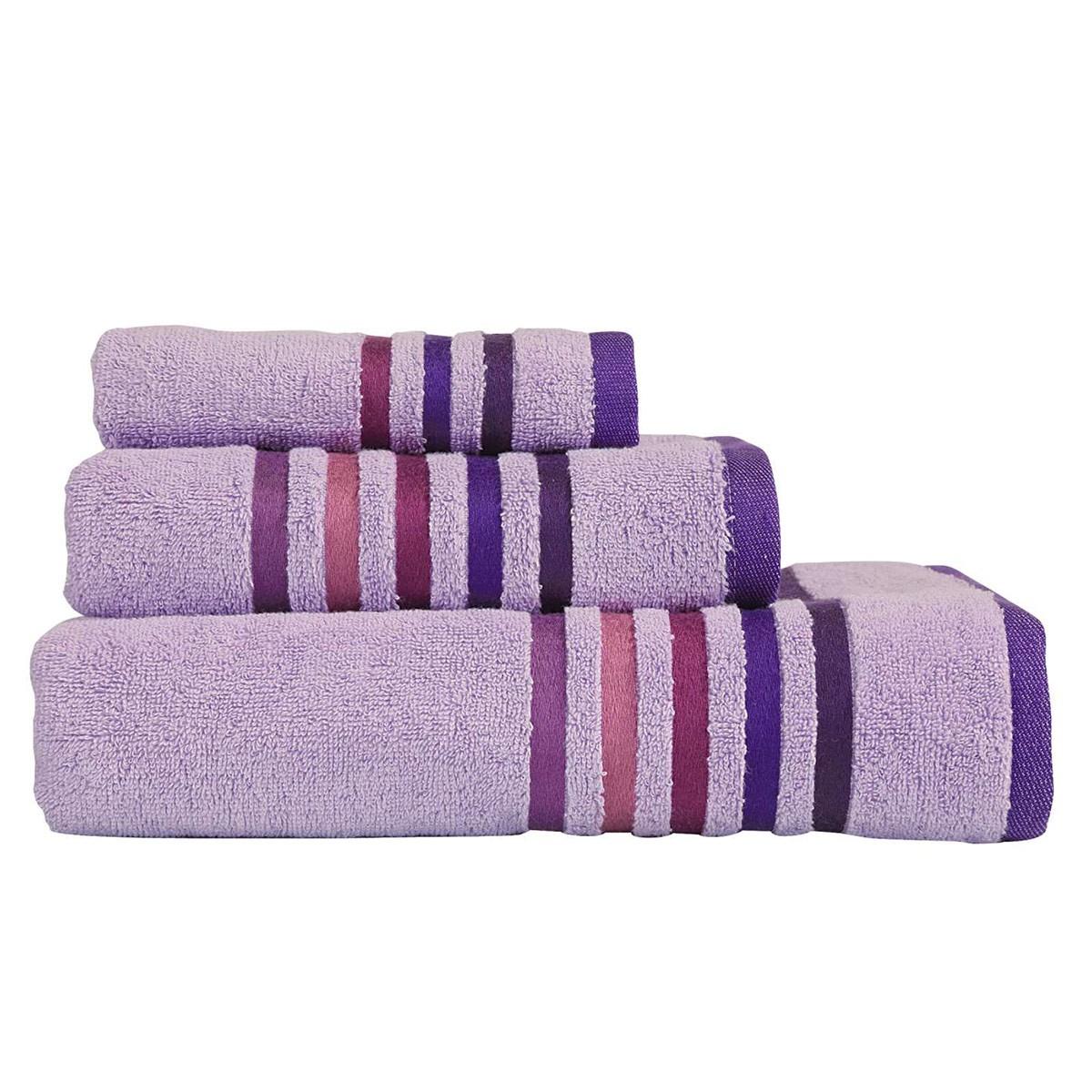 Πετσέτες Μπάνιου (Σετ 3τμχ) Nef-Nef Lines Lilac home   μπάνιο   πετσέτες μπάνιου