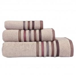 Πετσέτες Μπάνιου (Σετ 3τμχ) Nef-Nef Lines Beige