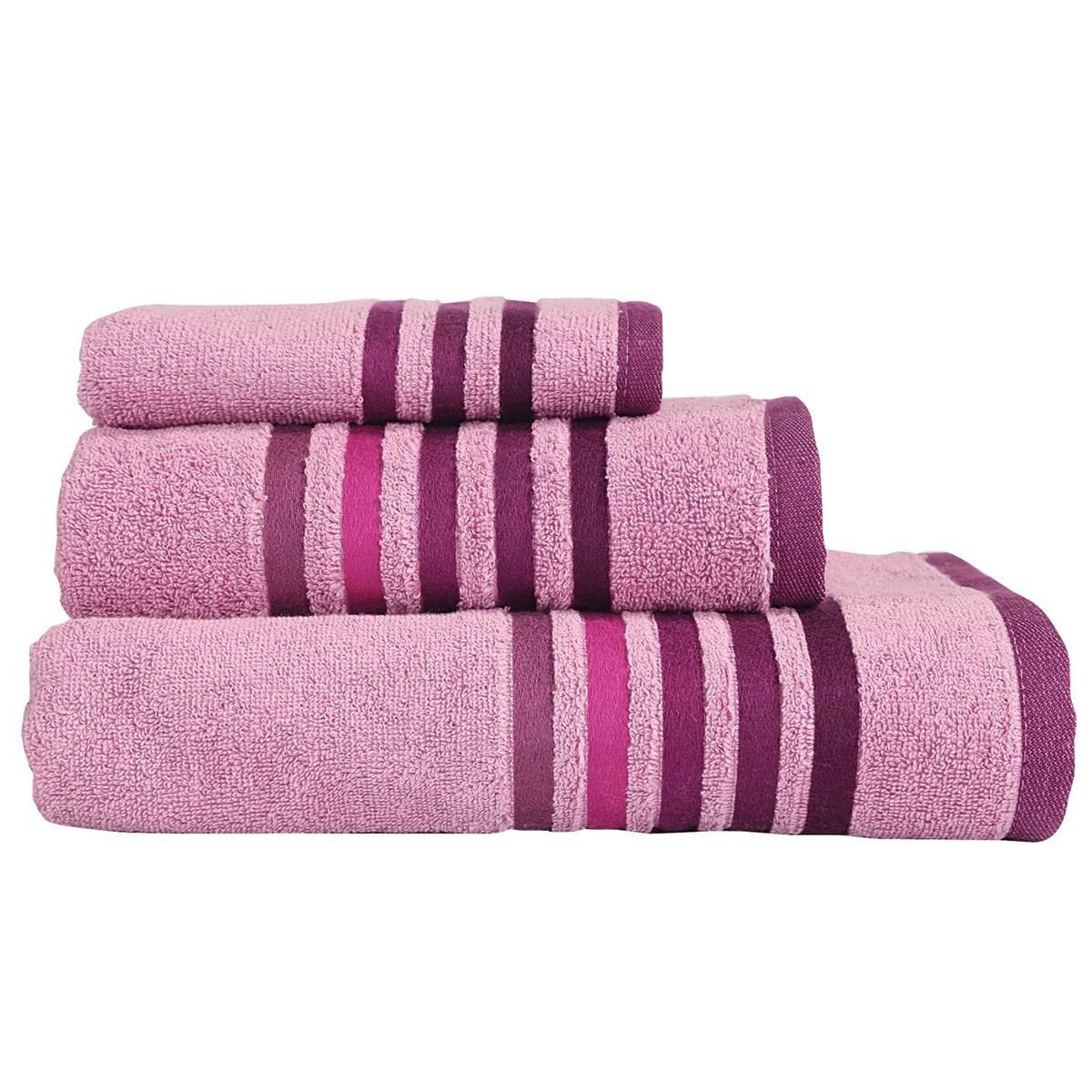 Πετσέτες Μπάνιου (Σετ 3τμχ) Nef-Nef Lines Apple home   μπάνιο   πετσέτες μπάνιου