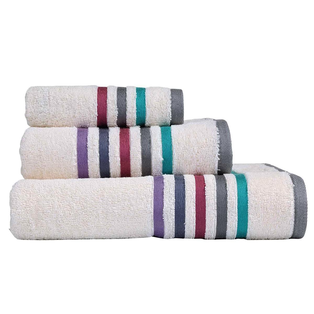 Πετσέτες Μπάνιου (Σετ 3τμχ) Nef-Nef Lines White