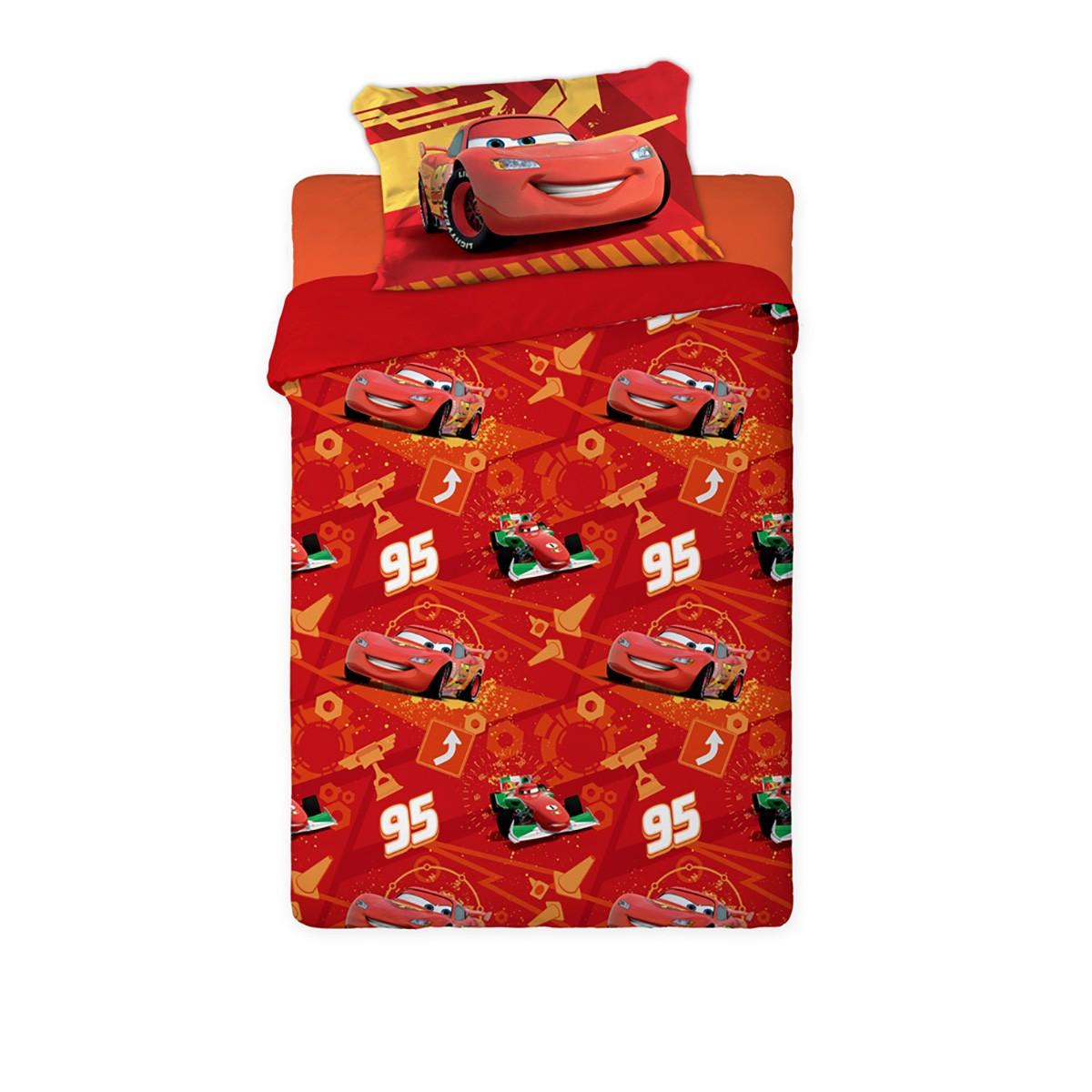 Πάπλωμα Μονό (Σετ) Limneos Disney Cars 733