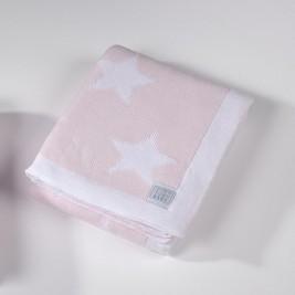 Κουβέρτα Πλεκτή Κούνιας Down Town Imperio 254 Ροζ