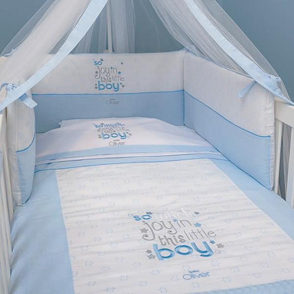 Σετ Κούνιας 3τμχ Baby Oliver Little Blue Joy 303