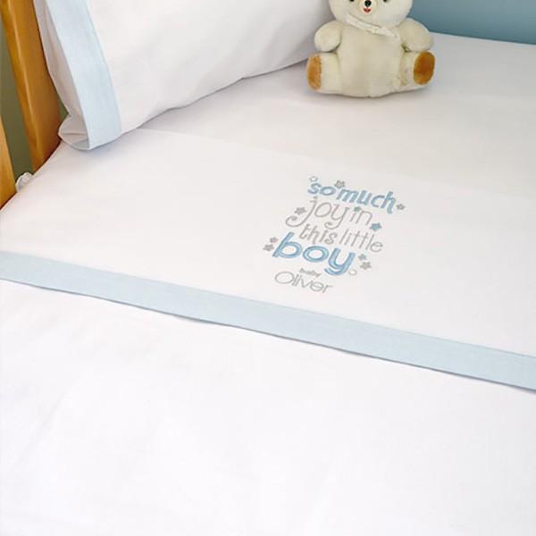 Σεντόνια Λίκνου (Σετ) Baby Oliver Little Blue Joy 303