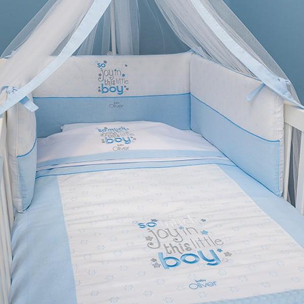 Σεντόνια Κούνιας (Σετ) Baby Oliver Little Blue Joy 303 64949