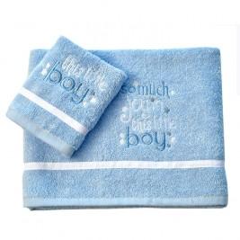Βρεφικές Πετσέτες (Σετ 2τμχ) Baby Oliver Little Blue Joy 303