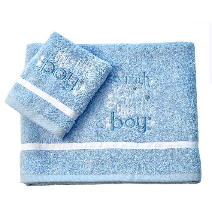 Βρεφικές Πετσέτες (Σετ 2τμχ) Baby Oliver Little Blue Joy 303 64956