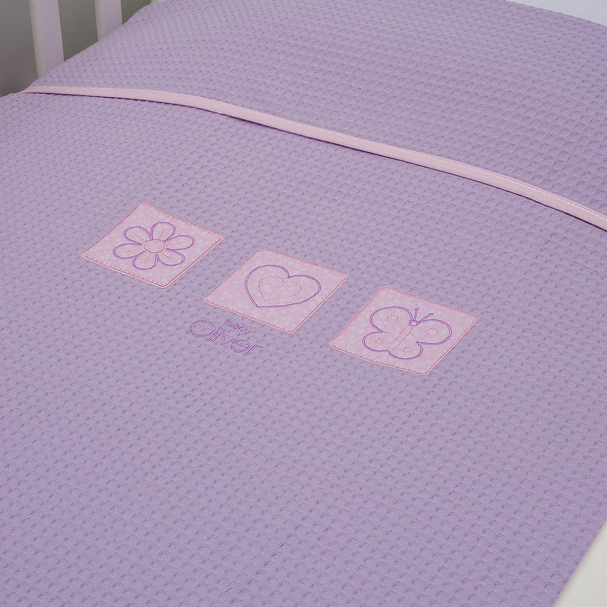 Κουβέρτα Πικέ Κούνιας Baby Oliver Des 471