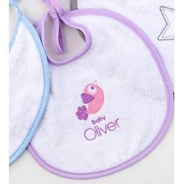 Σαλιάρα Baby Oliver Lilac Dream Birds 300