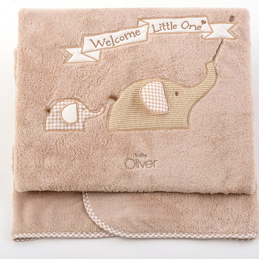 Κουβέρτα Fleece Αγκαλιάς Baby Oliver Welcome Little One 302