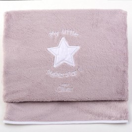 Κουβέρτα Fleece Κούνιας Baby Oliver Little Superstar 301