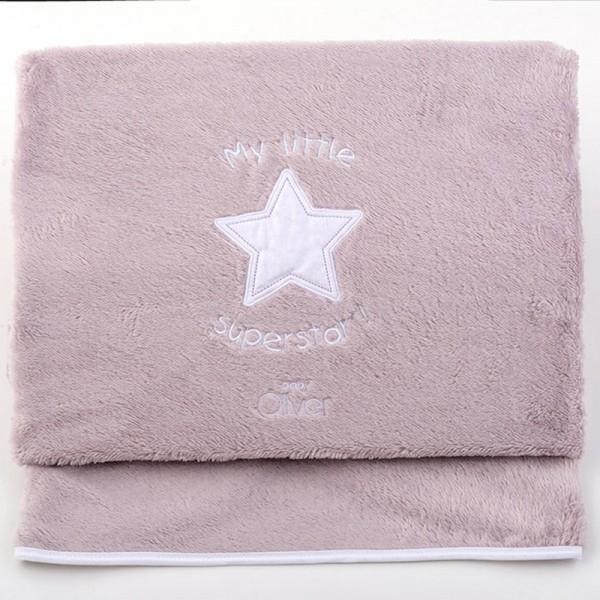 Κουβέρτα Fleece Κούνιας Baby Oliver Little Superstar 301