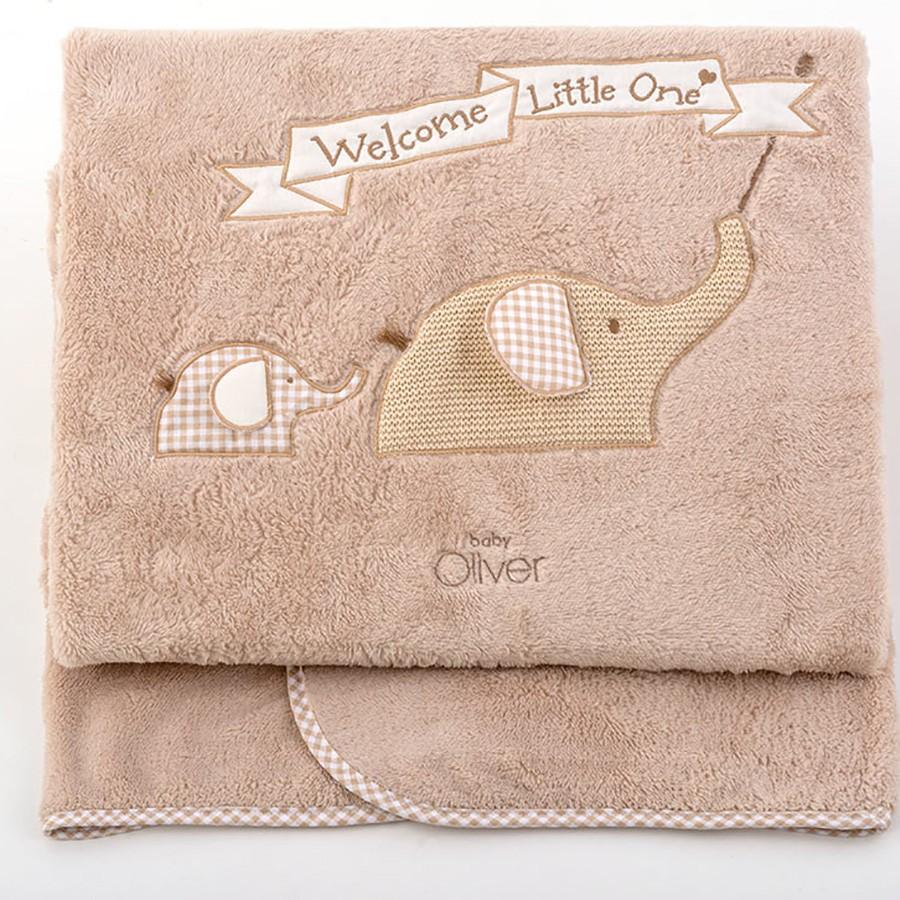 Κουβέρτα Fleece Κούνιας Baby Oliver Welcome Little One 302