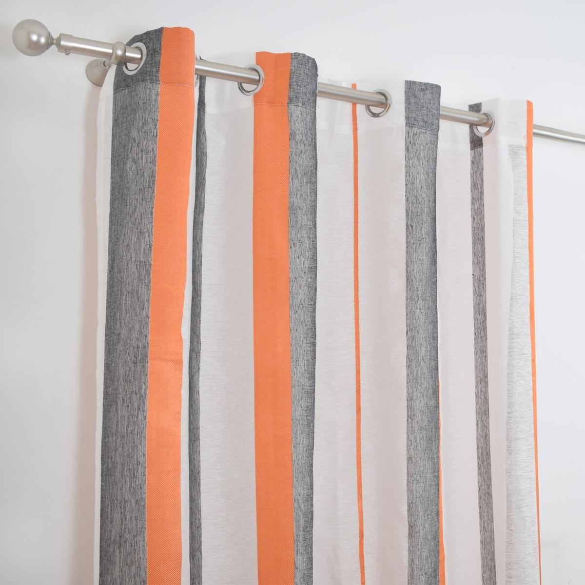 Κουρτίνα (150x260) Classic Rayas Orange