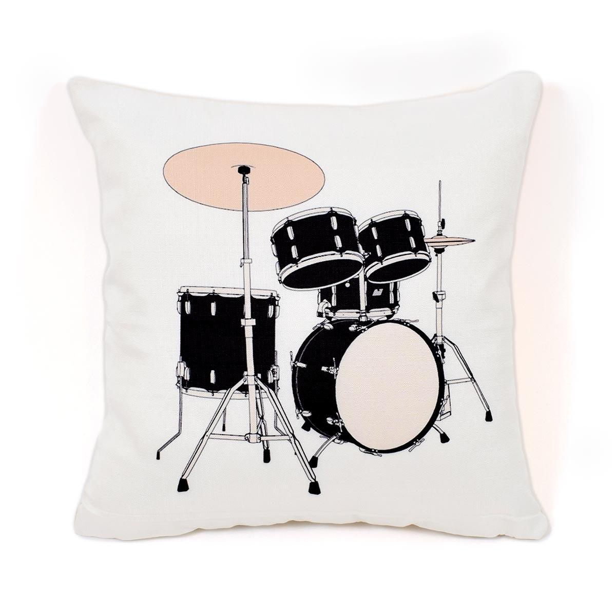 Διακοσμητική Μαξιλαροθήκη Drum Kit