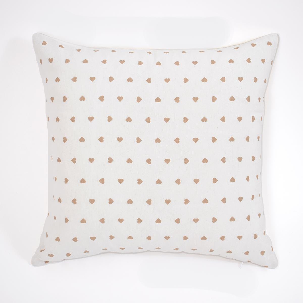 Διακοσμητική Μαξιλαροθήκη (45x45) Corazon White-Beige