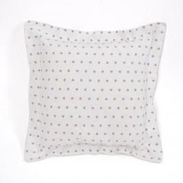 Διακοσμητική Μαξιλαροθήκη (50x50) Corazon White-Beige