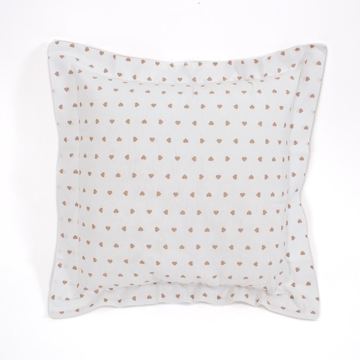 Διακοσμητική Μαξιλαροθήκη (60x60) Corazon White-Beige