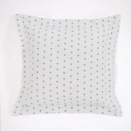 Διακοσμητική Μαξιλαροθήκη (50x50) Corazon White-Grey