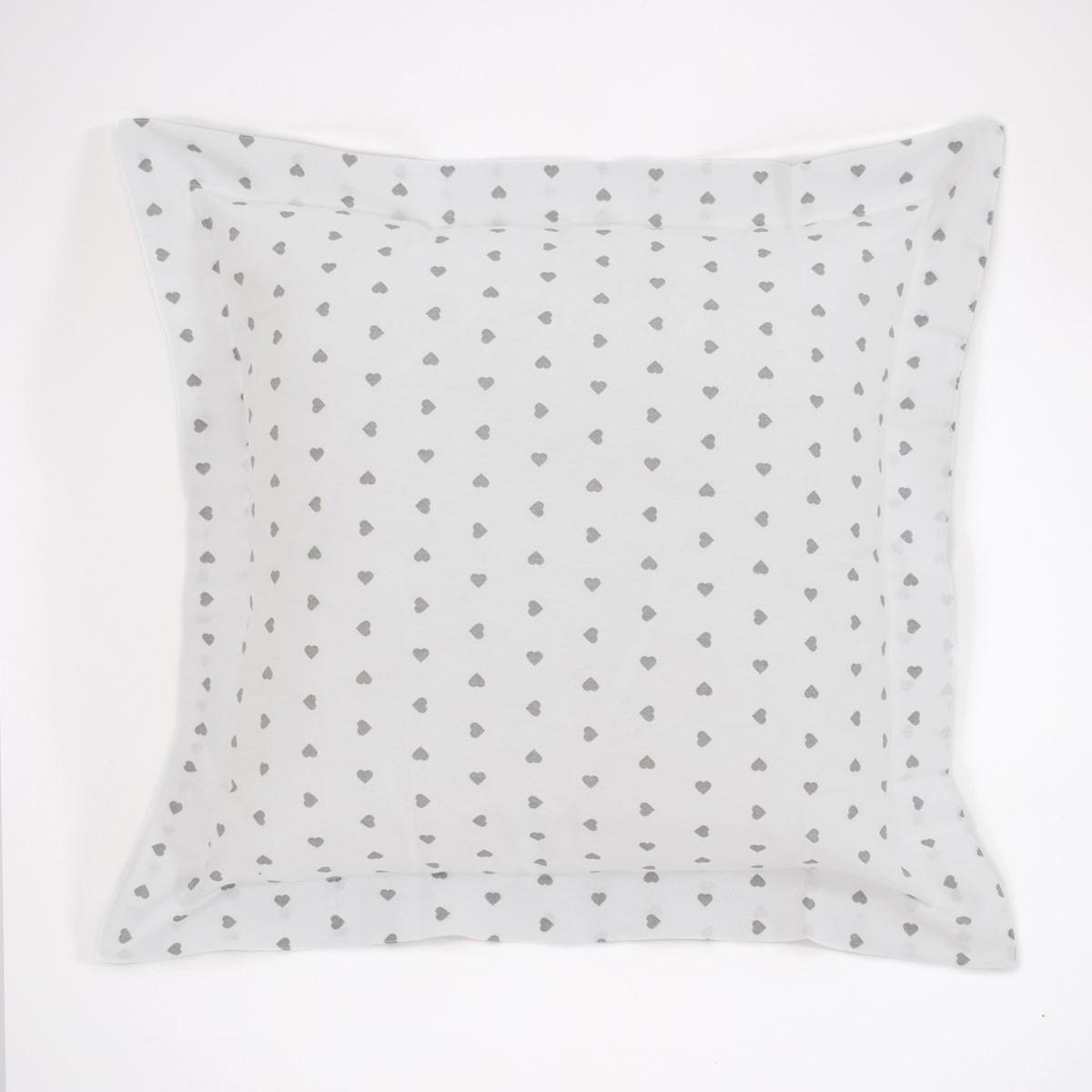 Διακοσμητική Μαξιλαροθήκη (60x60) Corazon White-Grey