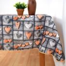 Αλέκιαστο Τραπεζομάντηλο (140×140) Amor Orange